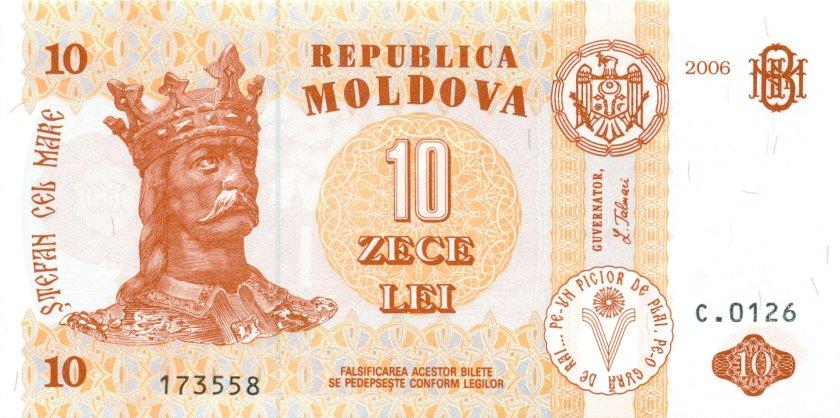 Moldova P10e 10 Lei 2006 UNC