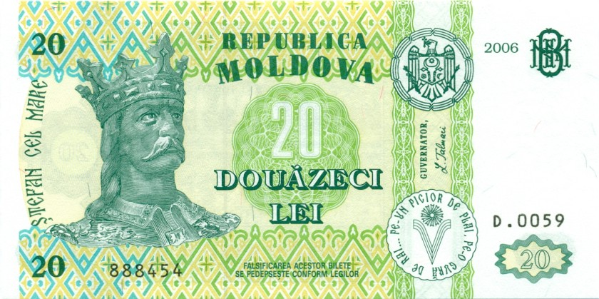Moldova P13h 20 Lei 2006 UNC