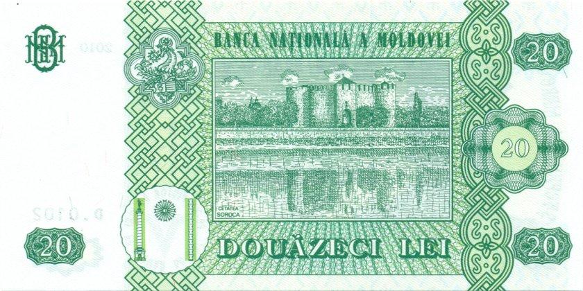 Moldova P13i 20 Lei 2010 UNC