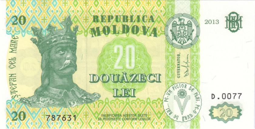Moldova P13j 20 Lei 2013 UNC