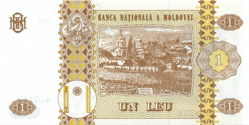 Moldova P8f 1 Leu 2005 UNC