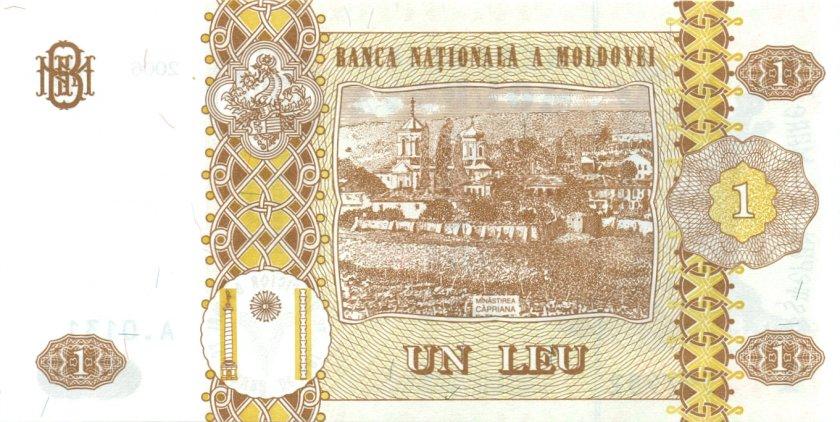 Moldova P8g 1 Leu 2006 UNC