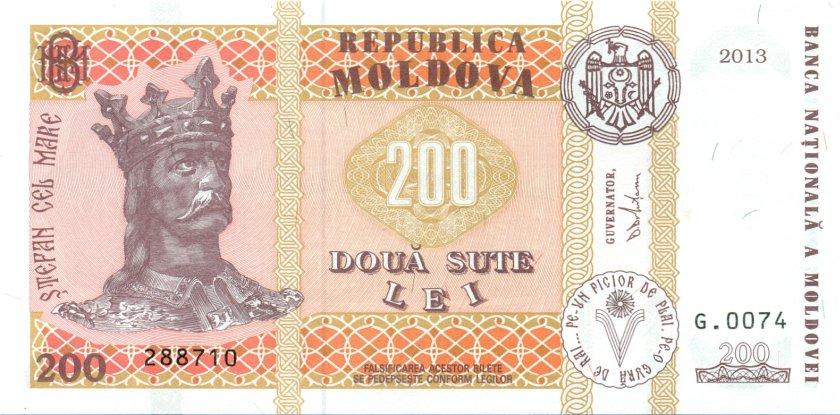 Moldova P16d 200 Lei 2013 UNC