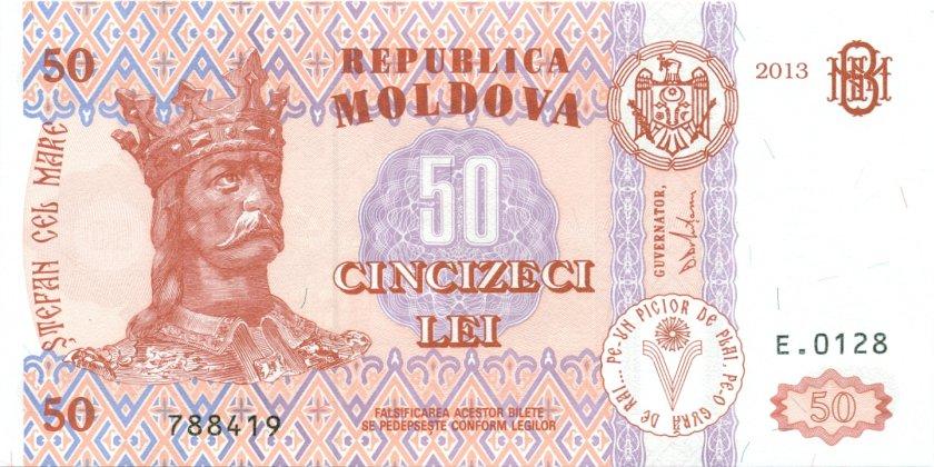 Moldova P14f 50 Lei 2013 UNC
