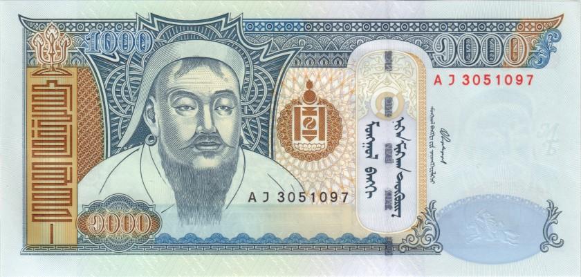 Mongolia P67a 1.000 Tugrik 2003 UNC