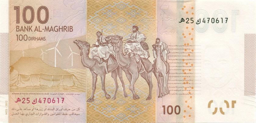 Morocco P76 100 Dirhams 2013 UNC