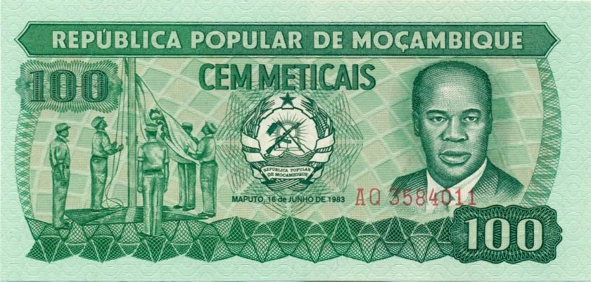 Mozambique P130a 100 Meticais 1983 UNC