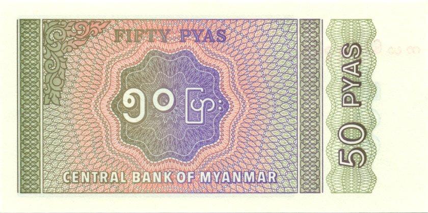 Burma (Myanmar) P68 50 Pyas 1994 UNC