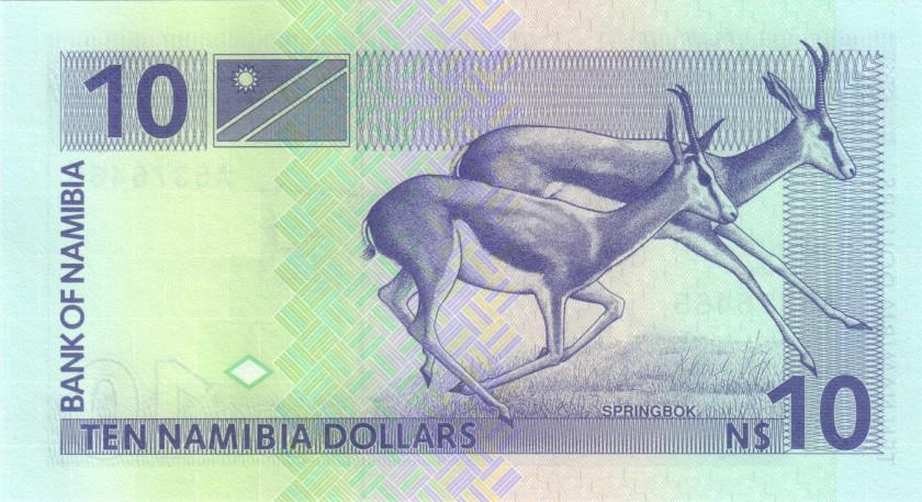 Namibia P1 10 Namibia Dollars 1993 UNC