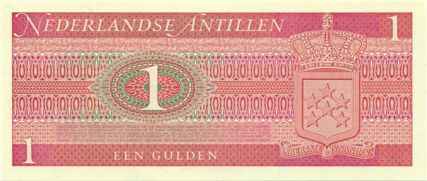 Netherlands Antilles P20 1 Gulden 1970 UNC