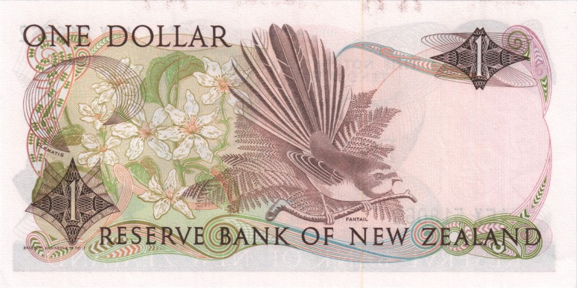 New Zealand P169a 1 Dollar 1981-1992