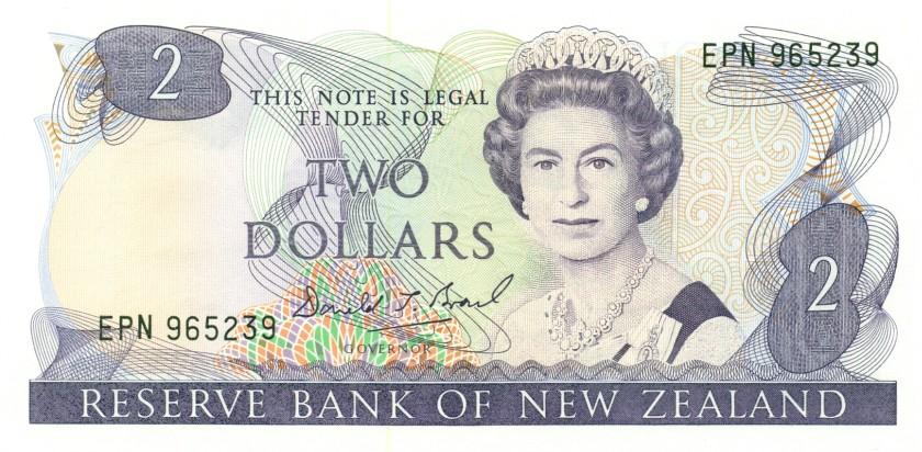 New Zealand P170c 2 Dollars 1989-1992 UNC
