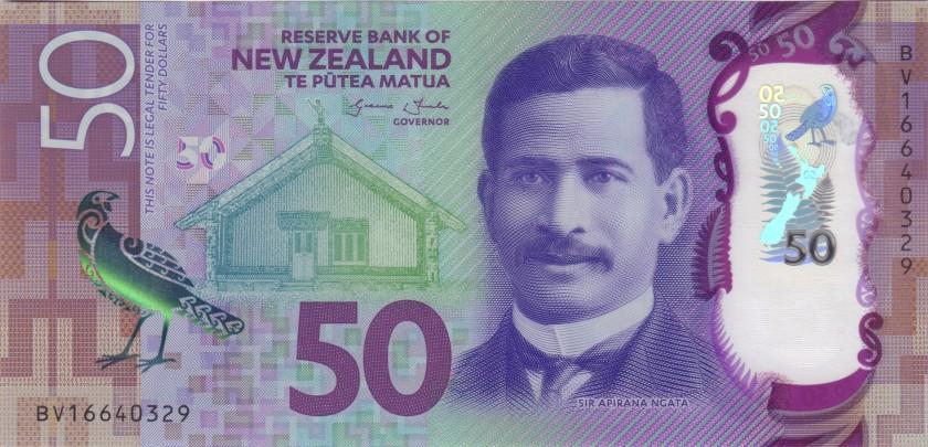 New Zealand P194 50 Dollars 2016 UNC