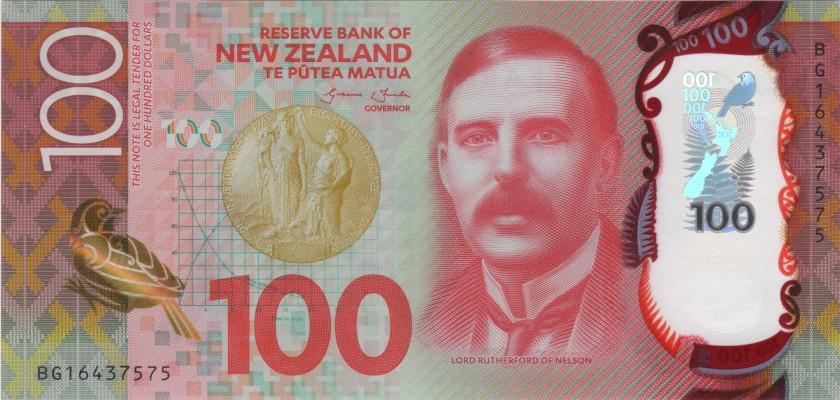 New Zealand P195 100 Dollars 2016 UNC