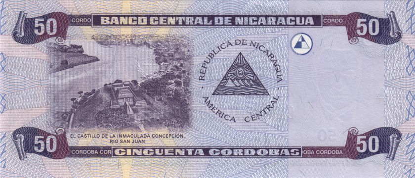 Nicaragua P193 50 Cordobas 2002 UNC
