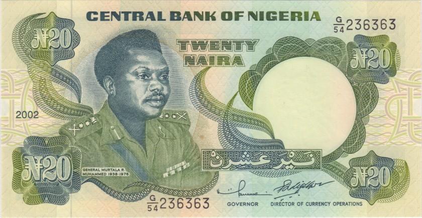 Nigeria P26g 20 Naira 2002 UNC