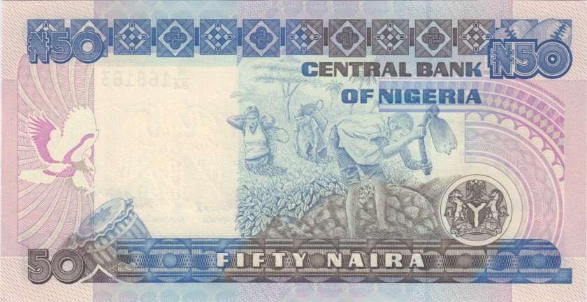 Nigeria P27b 50 Naira 1991 - 2000 UNC