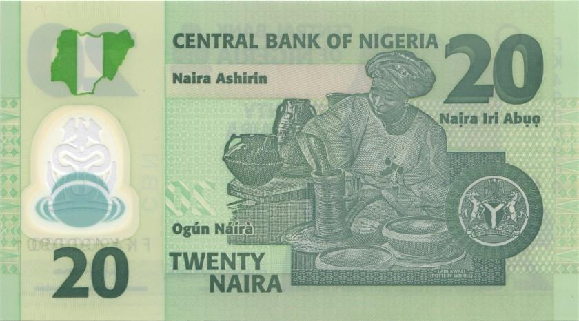Nigeria P34 20 Naira 2018 UNC
