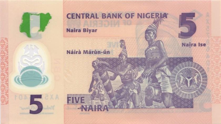 Nigeria P38d 5 Naira 2013 UNC