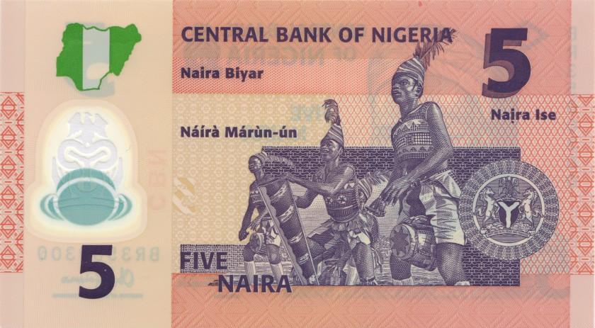 Nigeria P38e 5 Naira 2014 UNC