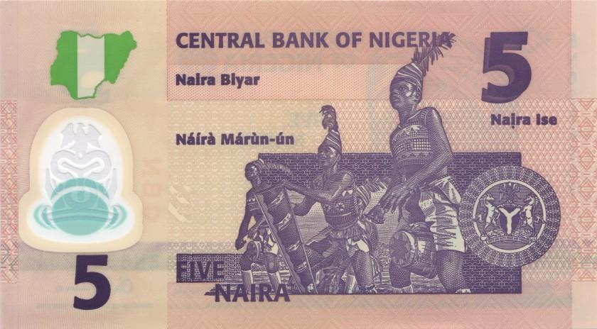 Nigeria P38i 5 Naira 2018 UNC