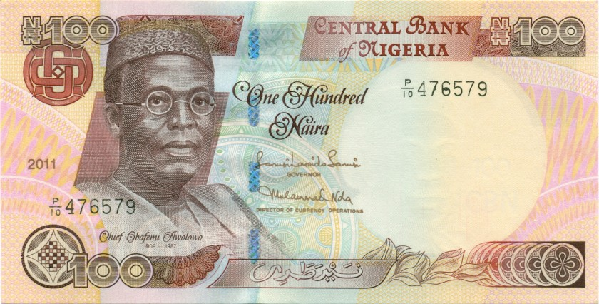 Nigeria P28k 100 Naira 2011 UNC