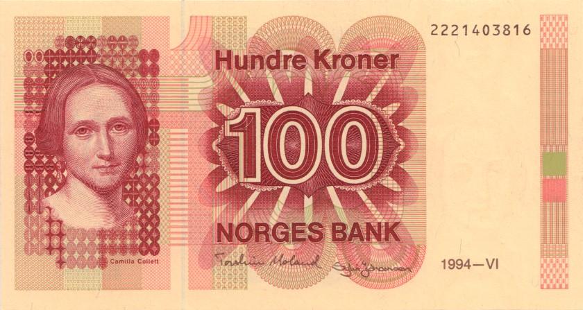 Norway P43e 100 Kroner 1994 UNC