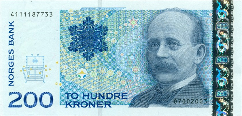 Norway P50b 200 Kroner 2003 UNC
