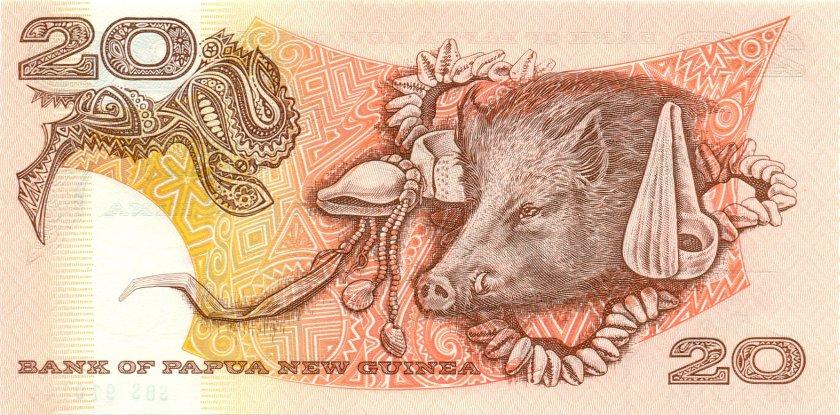 Papua New Guinea P10b(2) 20 Kina 1996 UNC