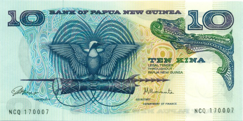 Papua New Guinea P7 10 Kina 1985-1987 UNC