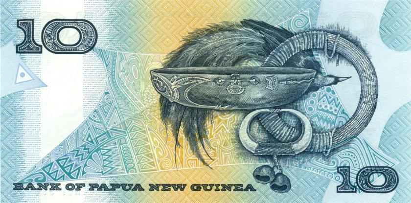 Papua New Guinea P9b 10 Kina 1989-1992 UNC