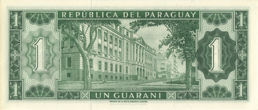 Paraguay P192 A0000734 1 Paraguayan Guaraní 1963 UNC