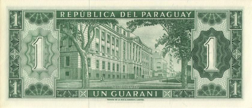 Paraguay P192 A0000736 1 Paraguayan Guaraní 1963 UNC