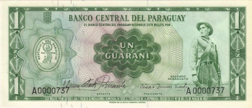Paraguay P192 A0000737 1 Paraguayan Guaraní 1963 UNC
