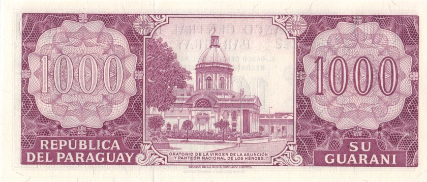 Paraguay P207(5) 1.000 Paraguayan Guaranies 1982 UNC