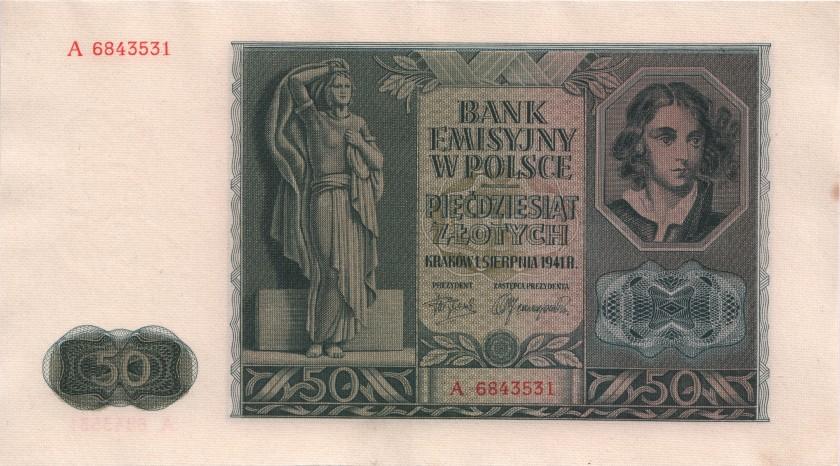 Poland P102 50 Złotych 1941