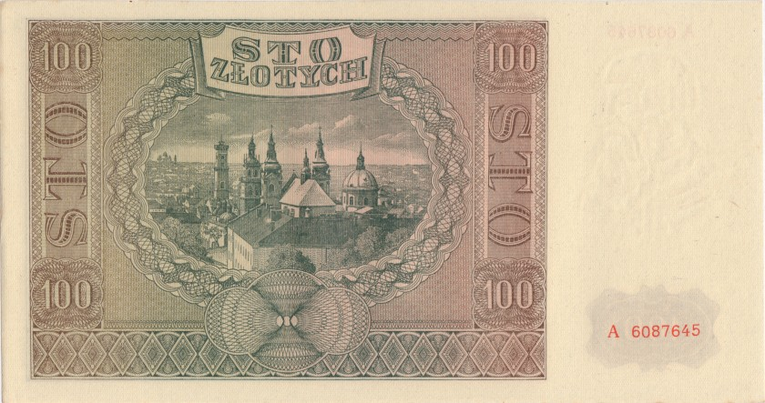 Poland P103 100 Złotych 1941
