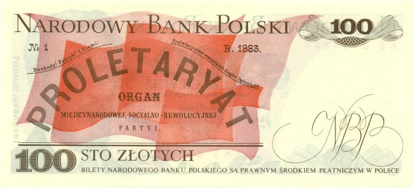 Poland P143b 100 Złotych 1976 UNC
