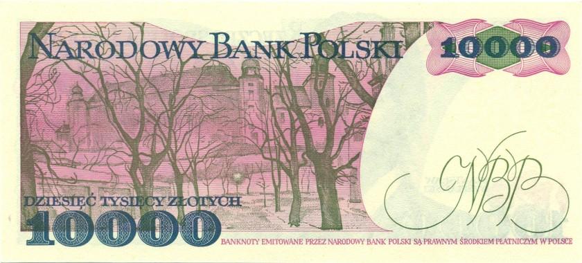 Poland P151b 10.000 Złotych 1988 UNC