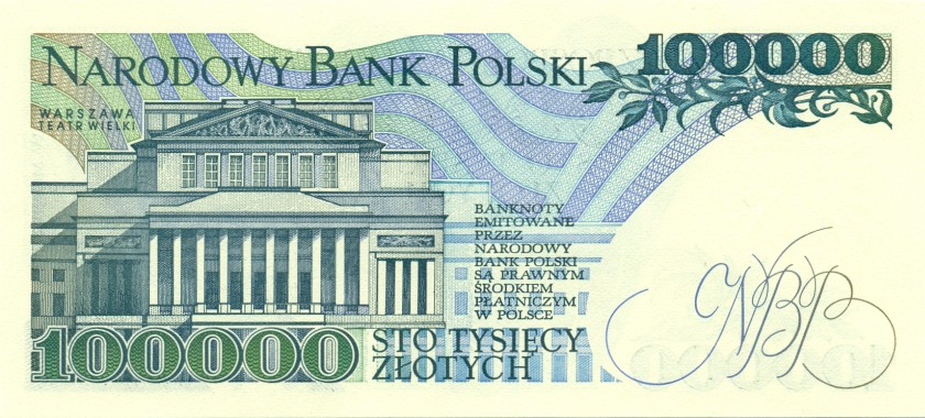 Poland P154 100.000 Złotych 1990 UNC