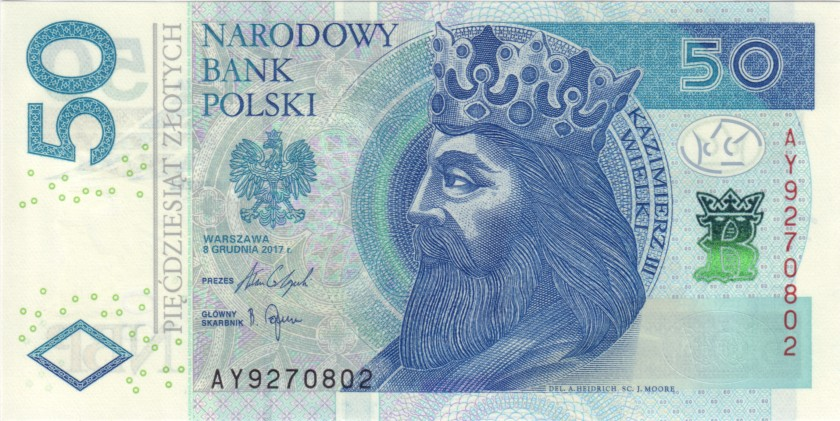 Poland P185b 50 Złotych 2017 UNC