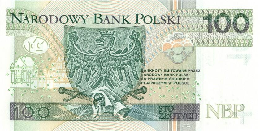 Poland P186 100 Złotych 2012 UNC