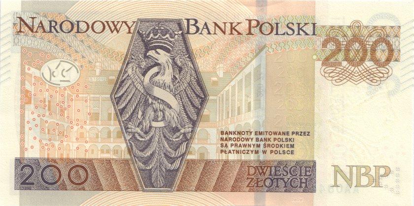Poland P189 200 Złotych 2015 UNC