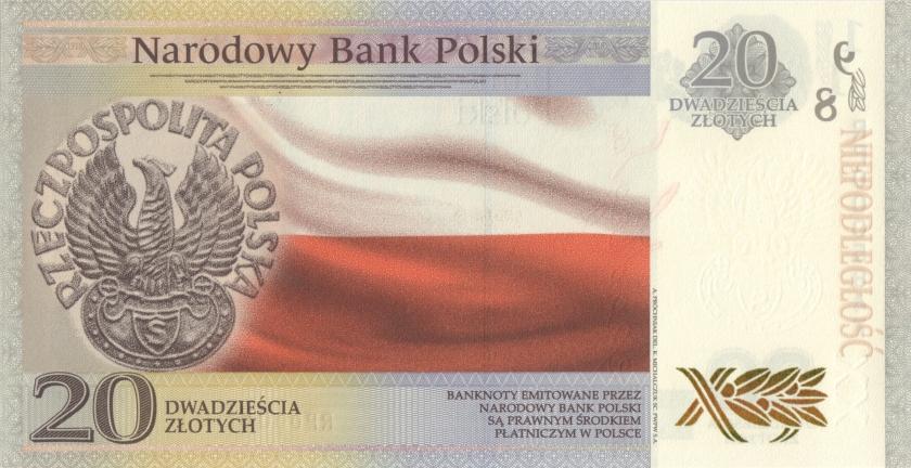 Poland P-NEW 20 Złotych 2018 UNC
