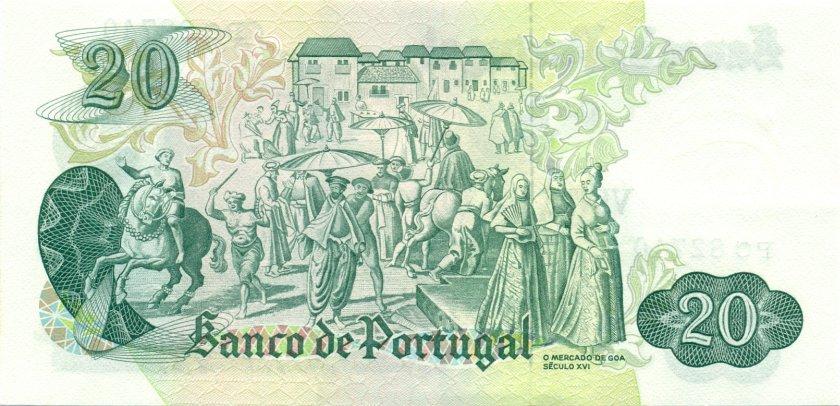 Portugal P173(7) 20 Escudos 1971 UNC