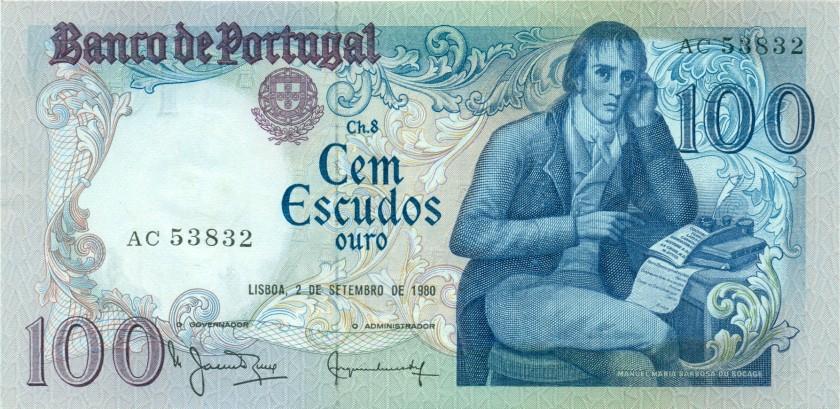 Portugal P178a(4) 100 Escudos 1980 UNC