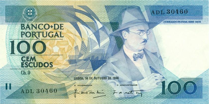 Portugal P179a(3) 100 Escudos 1986 UNC