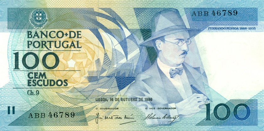 Portugal P179a(1) 100 Escudos 1986 UNC
