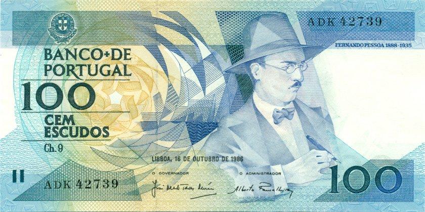 Portugal P179a(5) 100 Escudos 1986 UNC