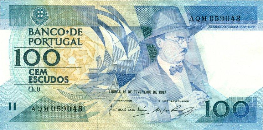 Portugal P179b(3) 100 Escudos 1987 UNC